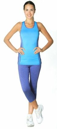 Womens High Performance Colored Racerback Tank Top Blue - S2 Sportswear