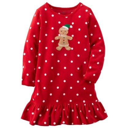 Ruffle Hem Fleece Sleep Shirt - Carter's - 163742