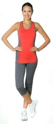 Womens High Performance Colored Racerback Tank Top Red - S2 Sportswear