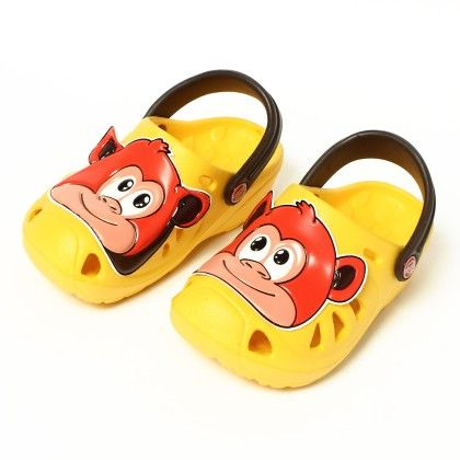 Monkey Face Slip Ons-yellow - Red Apple