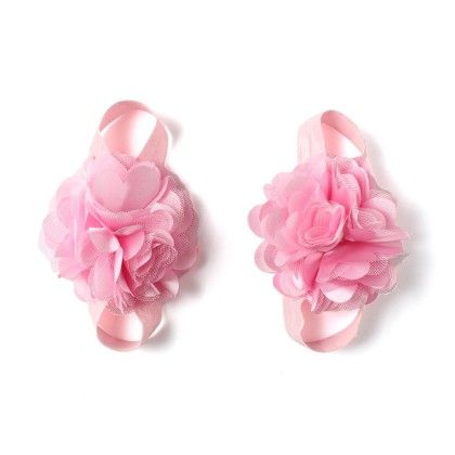 Pink Flower Barefoot Sandals - Funkrafts