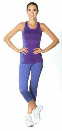 Womens High Performance Colored Racerback Tank Top Purple - S2 Sportswear