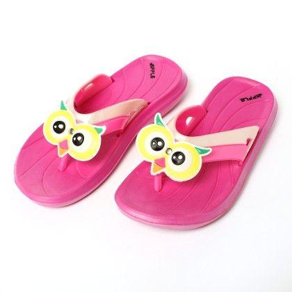 Owl Bird Slip Ons-pink - Red Apple