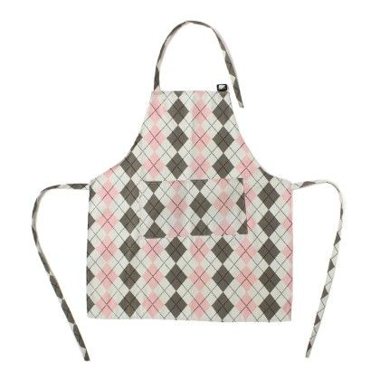 Printed Canvas With Matching Tie White With Diagonal Check - The Sun