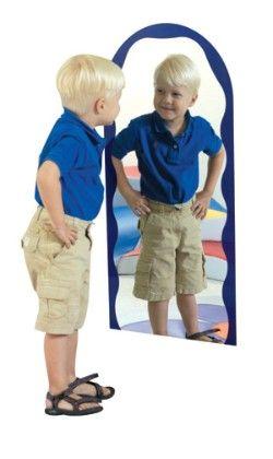 Blue Ripple Archway Mirror - The Children's Factory