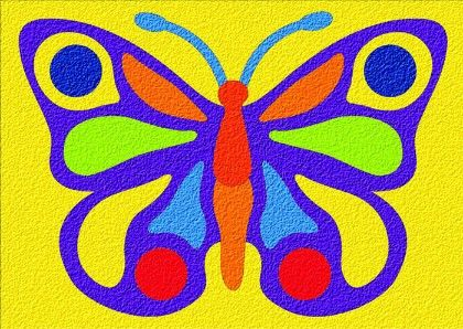 Lauri® Crepe Rubber Puzzle Butterfly - Patch