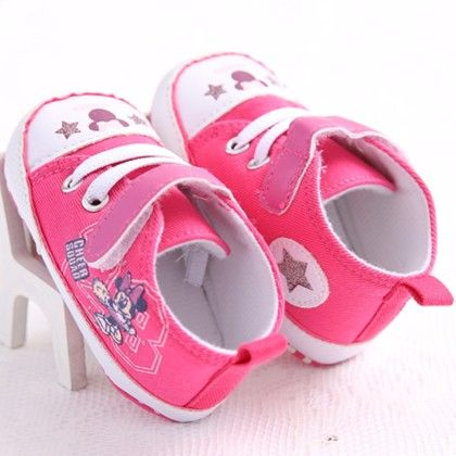 Minnie Mouse Pink Star Shoes - Peach Giirl