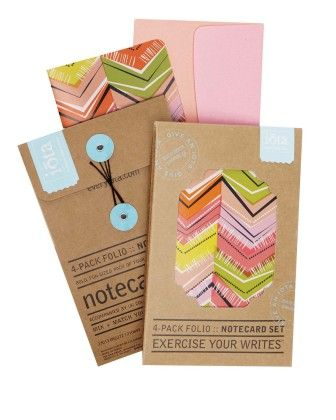 4-pack Folio Notecard Set - Lovely - CR Gibson
