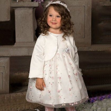 White Floral Dress - Little Dress Up