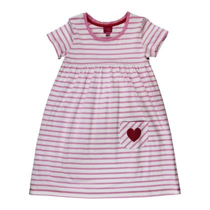 Striped Short Sleeve Dress-multi - Candy Pink
