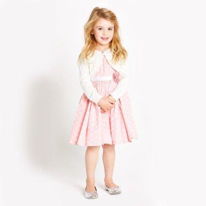 Pink Polka Dot Dress With Shrug - Sassy Girl