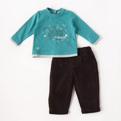 Trousers Set Blue - Sucre D'Orge