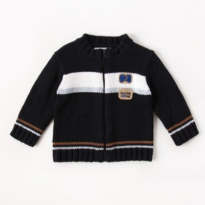 Pullover Cardigan - Navy Blue - Sucre D'Orge