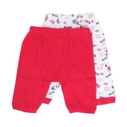 Baby Leggings Pack Of 2 - Dark Pink - Mee Mee