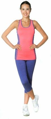 Womens High Performance Colored Racerback Tank Top Pink - S2 Sportswear