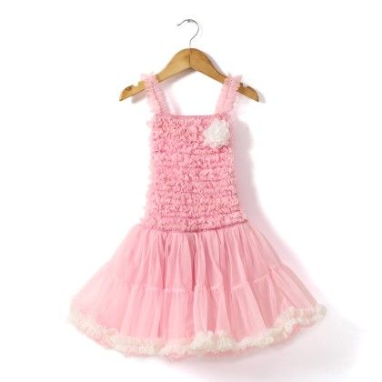 Pink Frilly Dress With White Ruffles - The KidShop