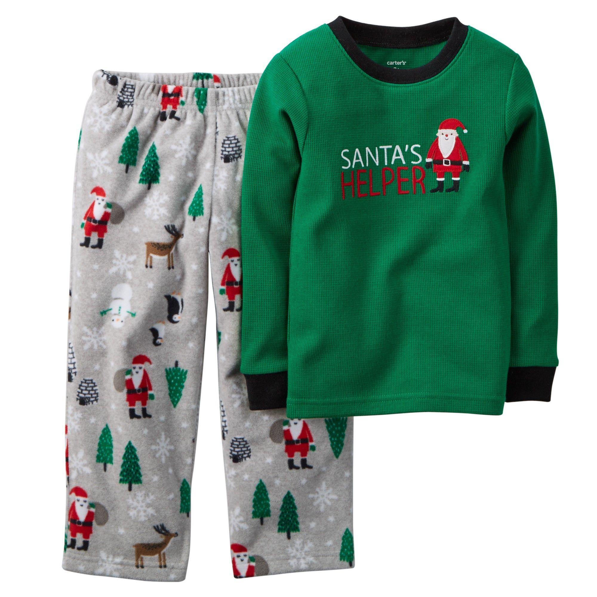 5c345ab43435 Hopscotch - carter s - 2-Piece Cotton   Fleece PJs - Green