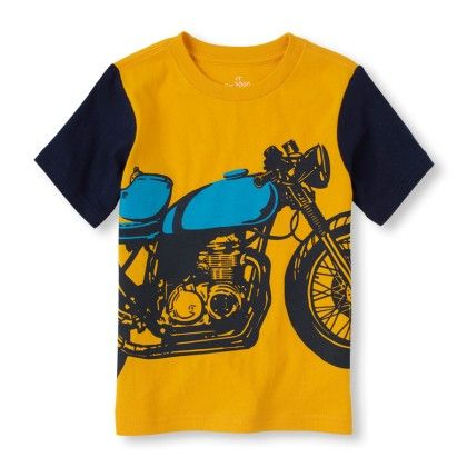 Short Sleeve Raglan Motorcycle Graphic Tee - The Children's Place