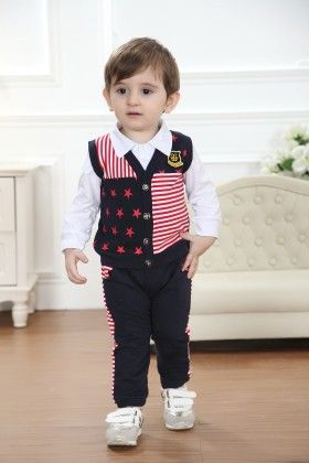 Boys Shirts And Trouser With Multi Jacket - Dapper Dudes