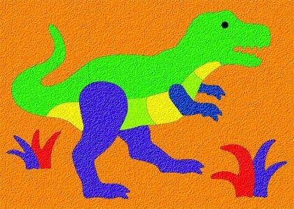 Lauri® Crepe Rubber Puzzle Tyrannosaurus - Patch