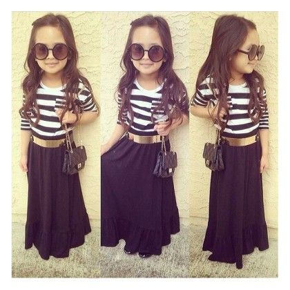 Black Gown Dress - Little Fashionista