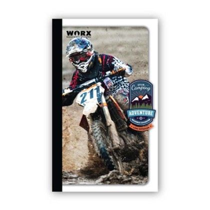 Long Notebook, 116 Pages (ruled) Dirt Bike - Chitra