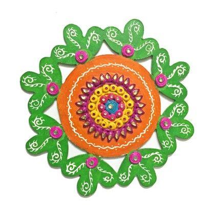 Ready Made Floor Rangolis Flower Single Piece - Color Crave