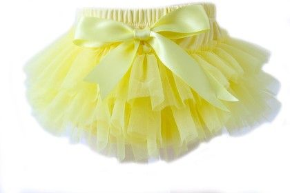 Tutu Chiffon Bloomers- Yellow - Cutie Baby Boutique