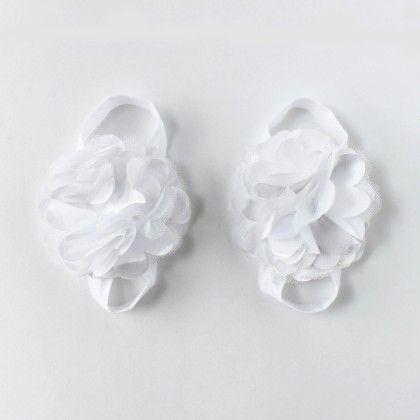 White Flower Barefoot Sandals - Funkrafts