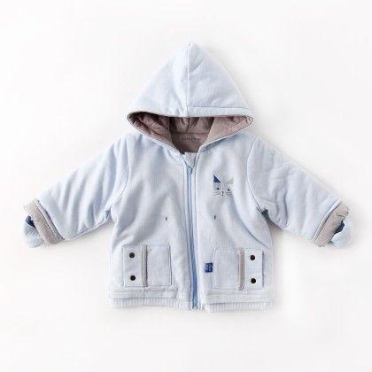 Baby Coat Sky Blue - Sucre D'Orge