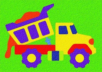 Lauri® Crepe Rubber Puzzle Dump Truck - Patch