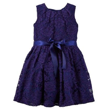 Floral Lace Dress - Blue - Carter's