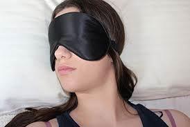 Natural Silk Sleep Mask & Blindfold, Super-smooth Eye Mask -  Black - Alaska Bear