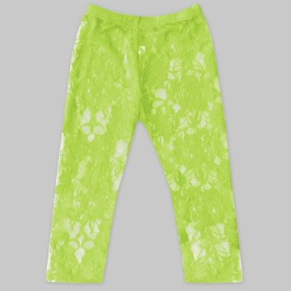 Lime Green Lace Leggings - A.T.U.N