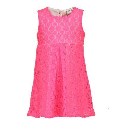 Budding Bees Girls Dark Pink Printed A-line Dress