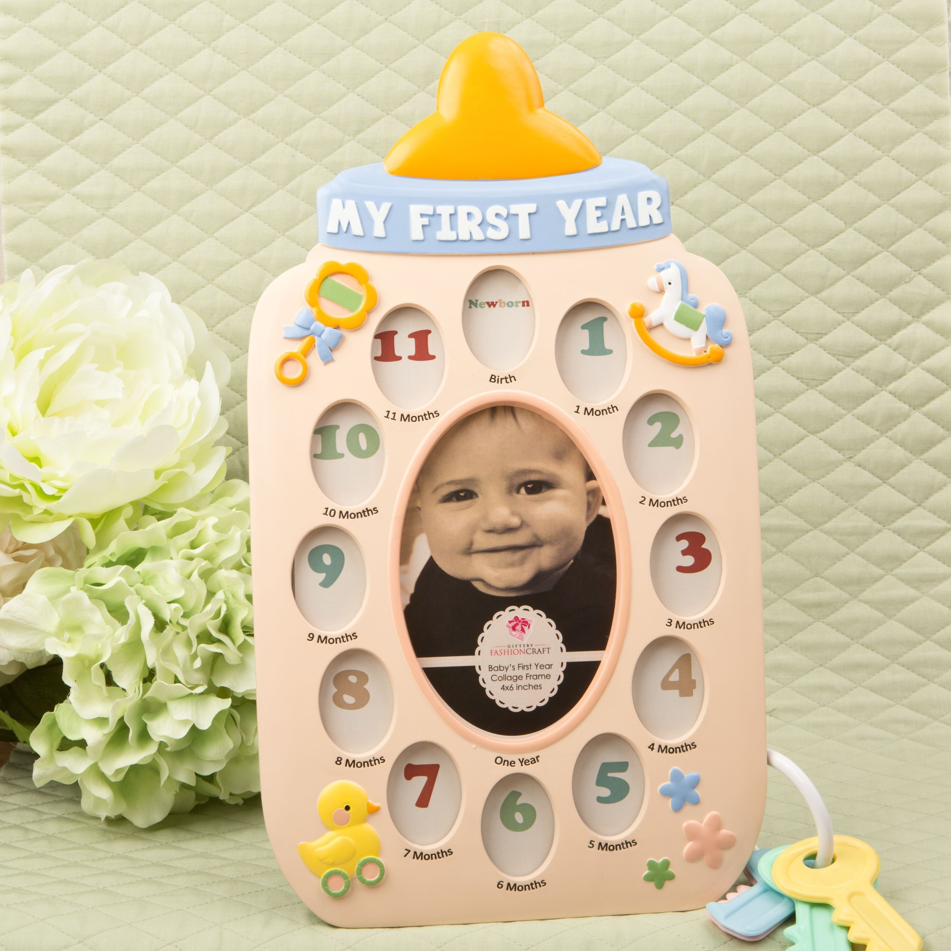Hopscotch - FashionCraft - My First Year Baby Bottle Collage Frame