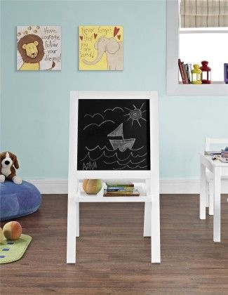 Hazel Kid's Floor Easel, White Finish - Altra Furniture