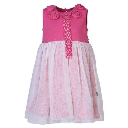 Herberto- Pink Pretty Corsage Dress