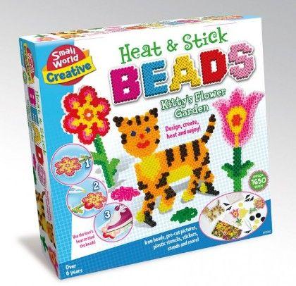 Heat & Stick Beads Kitty's Flower Garden - Small World Toys