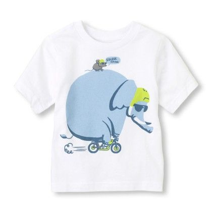 Short Sleeve Elephants On A Bike Graphic Tee - The Children's Place
