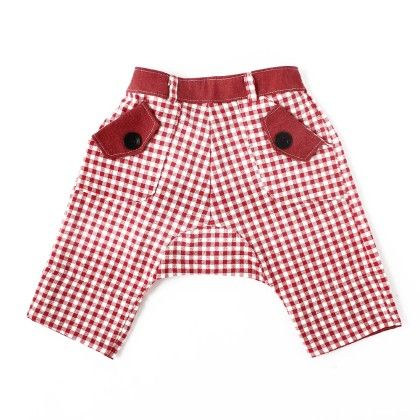 Fisherman Pants Red And White Check - CroMagnon