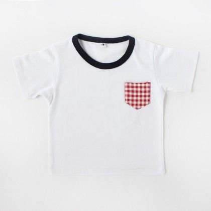 T-shirt Red And White Check - CroMagnon