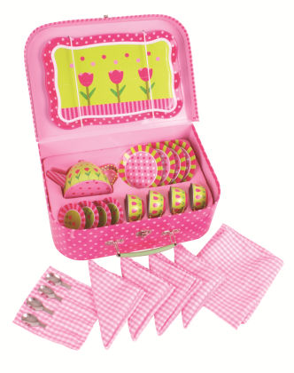 Pink Flower Tea Set - Big Jig Toys