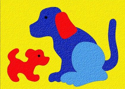 Lauri® Crepe Rubber Puzzle Dog & Puppy - Patch