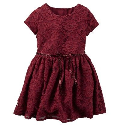 Floral Lace Dress - Red - Carter's