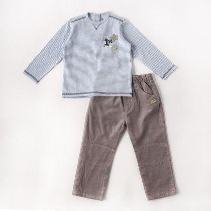 Trousers Set - Sky Blue - Sucre D'Orge