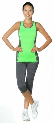 Womens High Performance Colored Racerback Tank Top - Green - S2 Sportswear