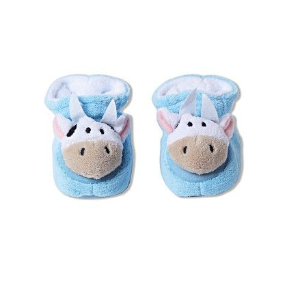 Ole Baby Soft Furry 3d Ole Toons Shoes Blue