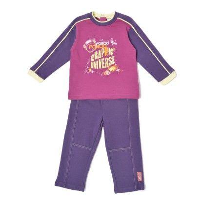 Set Of 2 Top & Pants -purple & Dark Purple - WWW
