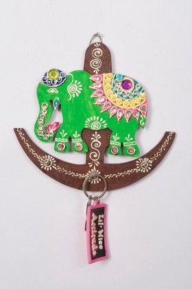Key Holder Anchor Elephant Green - Color Crave